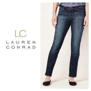 LC Lauren Conrad Skinny Jeans Dark Wash Sz 4 NWT